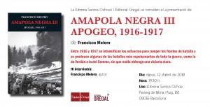 Invitació AMAPOLA NEGRA III_Santos Ochoa