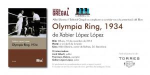 Invitación Presentación Olympia Ring 1934
