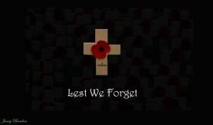 Cruz con el Lest we forget