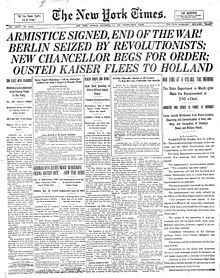 Diario día Armisticio 11 11 1918