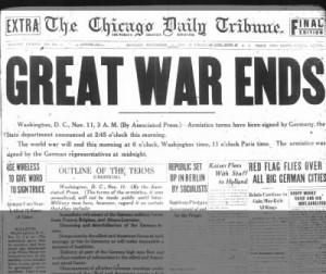 Periodico Fin de la guerra