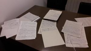 Escritos en la mesa