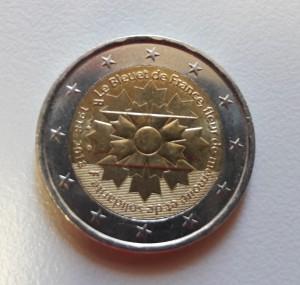 Moneda con Bleuet francés