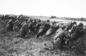 Soldados franceses Marne 1914